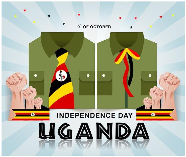 Tło dzień niepodległości ugandy