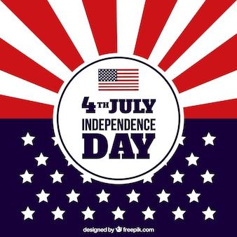 Tło dzień niepodległości z flagą nowoczesną