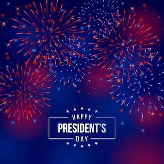 Tło dzień prezydenta programu fireworks