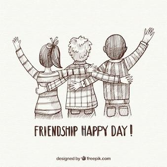 Tło dzień przyjaźni z przyjaciółmi