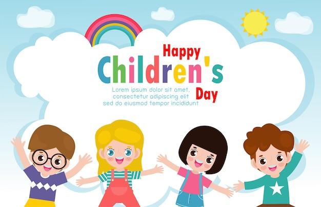 Tło dzień szczęśliwy dzieci