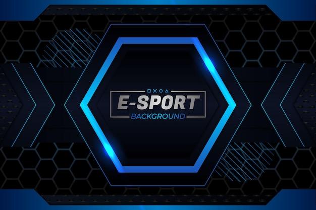 Tło e-sportowe w ciemnym i niebieskim stylu