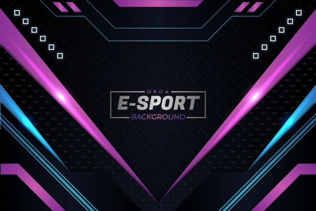 Tło e-sportowe w fioletowym stylu
