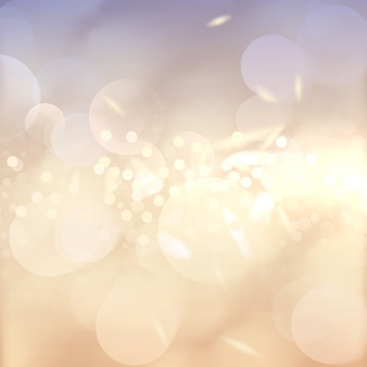 Tło efekt bokeh. wiele świateł. streszczenie golden bright