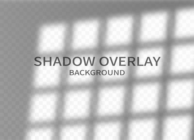 Tło efektu nakładki cienia. cień ramy okiennej i miękkie światło na pionowej ścianie. monochromatyczny abstrakcyjny wzór makieta. ilustracja wektorowa.
