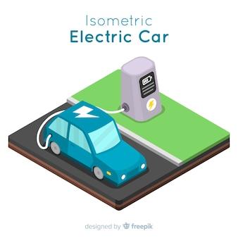 Tło elektryczne samochodu