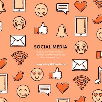Tło elementów mediów społecznych