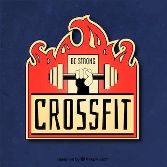 Tło etykiety crossfit