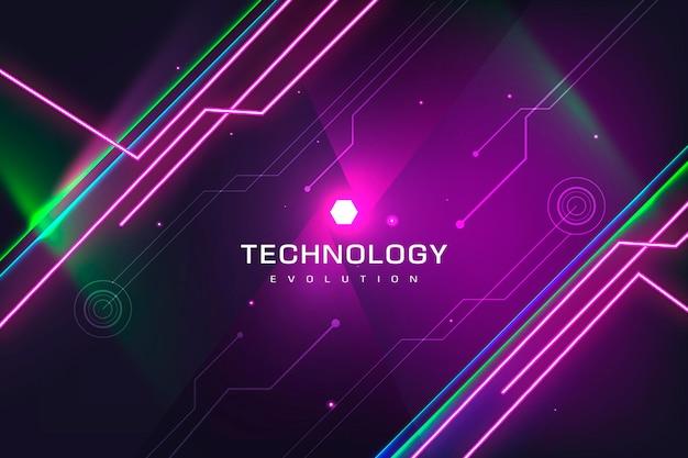 Tło ewolucji technologii neonowej