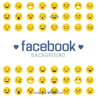 Tło facebook z emotikonami