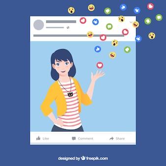 Tło facebooka