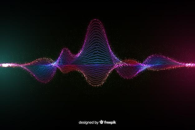 Tło fala cząsteczek dźwięku