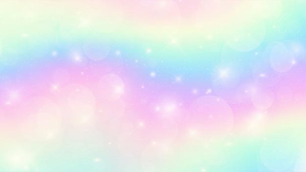 Tło fantazja holograficzna galaxy w pastelowych kolorach