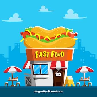 Tło fast food