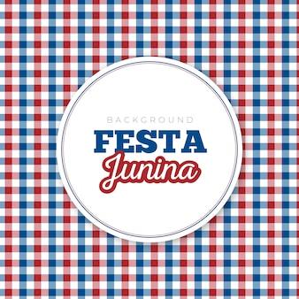 Tło festa junina czerwony i niebieski