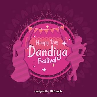 Tło festiwalu dandiya