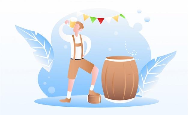 Tło festiwalu oktoberfest