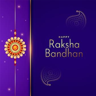 Tło festiwalu raksha bandhan w fioletowych kolorach
