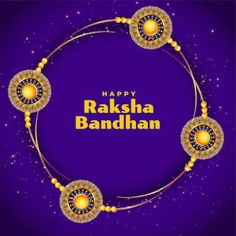 Tło festiwalu raksha bandhan w kolorze fioletowym