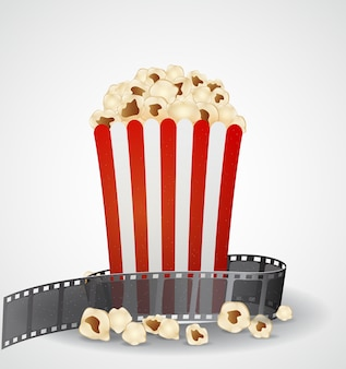 Tło filmu kinowego