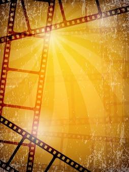 Tło filmu. klatki filmowe taśmy szpule kamery wideo ilustracje wektorowe. taśma filmowa, kinematografia kinowa, taśma negatywowa