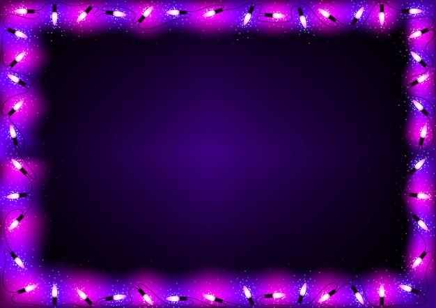 Tło fioletowe światła bożego narodzenia