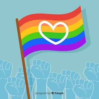 Tło flaga dumy dnia