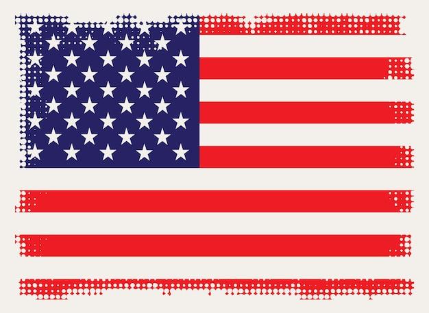 Tło flaga stanów zjednoczonych grunge