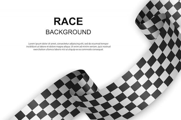 Tło flagi z szachownicą. ilustracji wektorowych