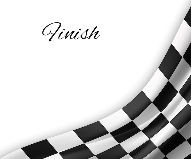 Tło flagi z szachownicą. projekt flagi wyścigu.
