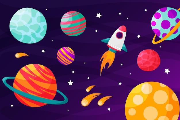 Tło galaktyki kreskówka