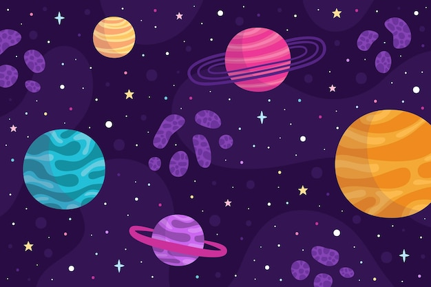 Tło galaktyki stylu cartoon