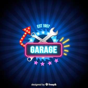 Tło garażu