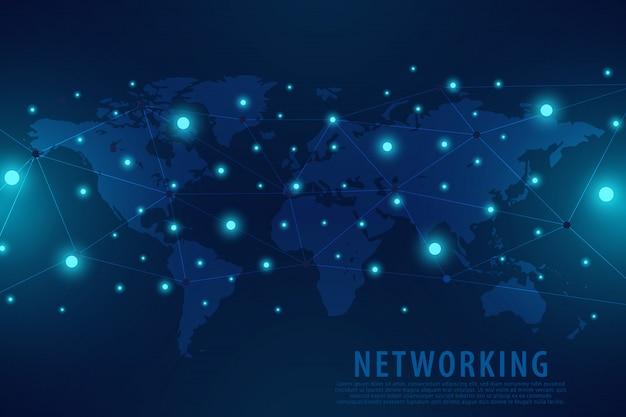 Tło globalnego połączenia sieciowego