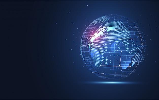 Tło globalnej sieci połączeń