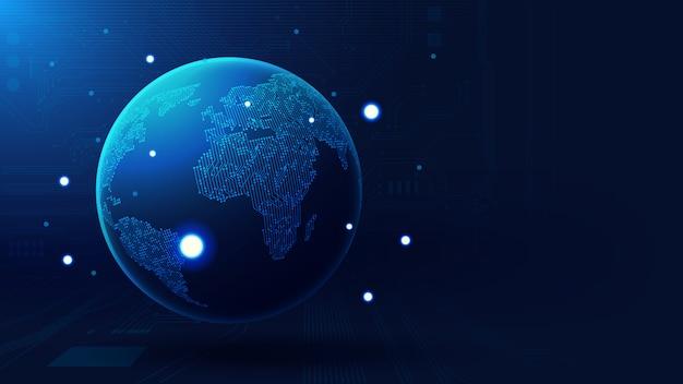 Tło globalnej technologii