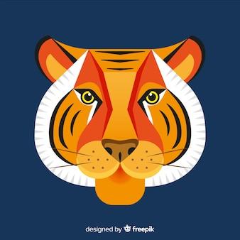 Tło głowy tygrysa