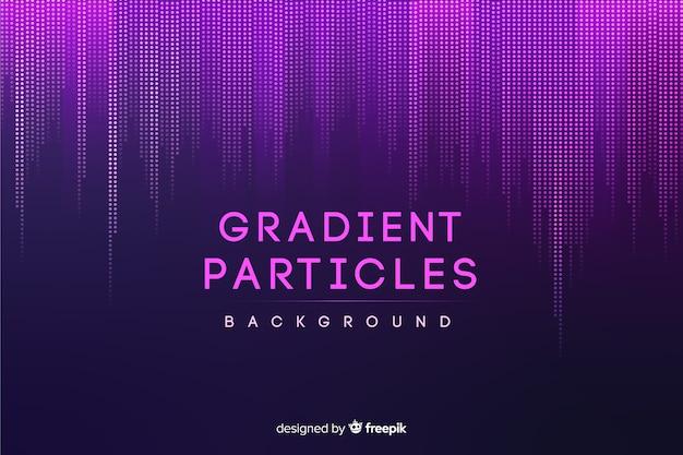 Tło gradientowe cząstek