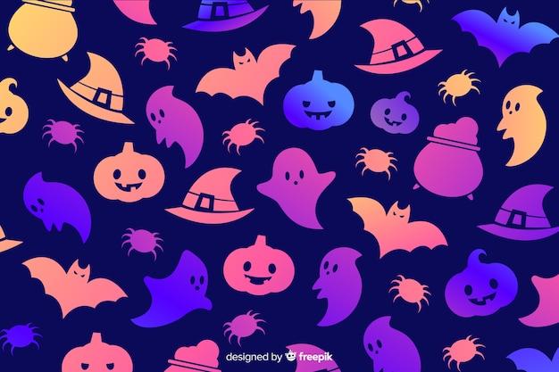 Tło gradientowe elementy halloween