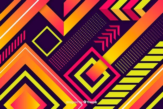 Tło gradientowe i artystyczne kształty geometryczne