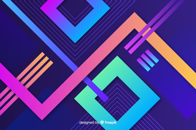 Tło gradientowe kształty geometryczne