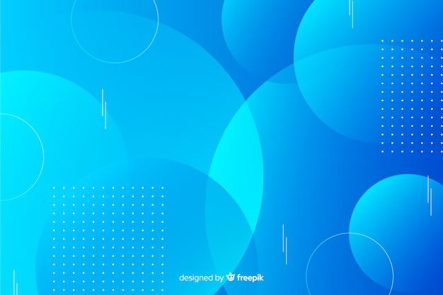 Tło gradientowe niebieskie kształty geometryczne