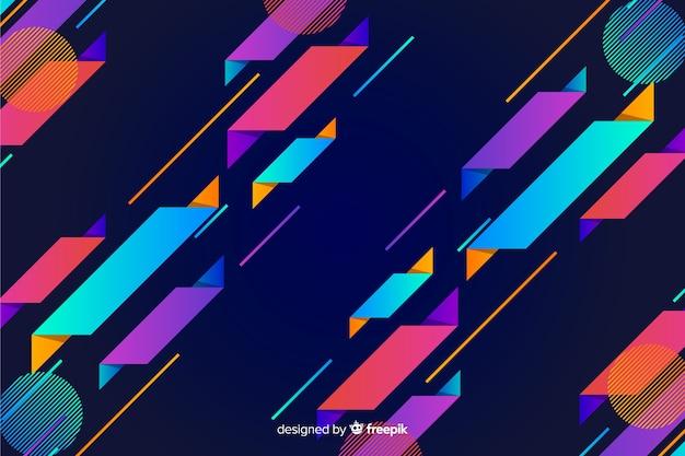 Tło gradientu dynamiczny kształt geometryczny