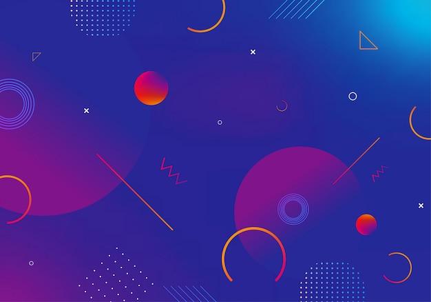 Tło gradientu geometryczny kształt z abstrakcyjną dekoracją