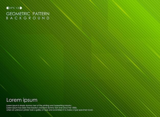 Tło gradientu zieleni paska linii projekta biznes