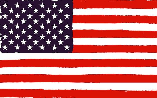 Tło grunge amerykańskiej flagi