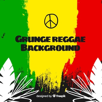 Tło grunge stylu reggae