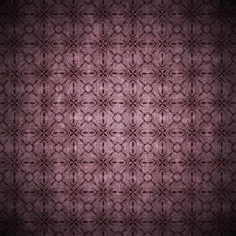 Tło grunge w stylu vintage w kolorze fioletowym z abstrakcyjnymi ornamentami i kwiatami