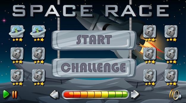 Tło gry wyścigu kosmicznego