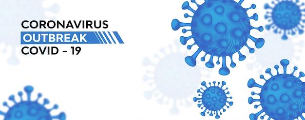 Tło grypy coronavirus covid-19
